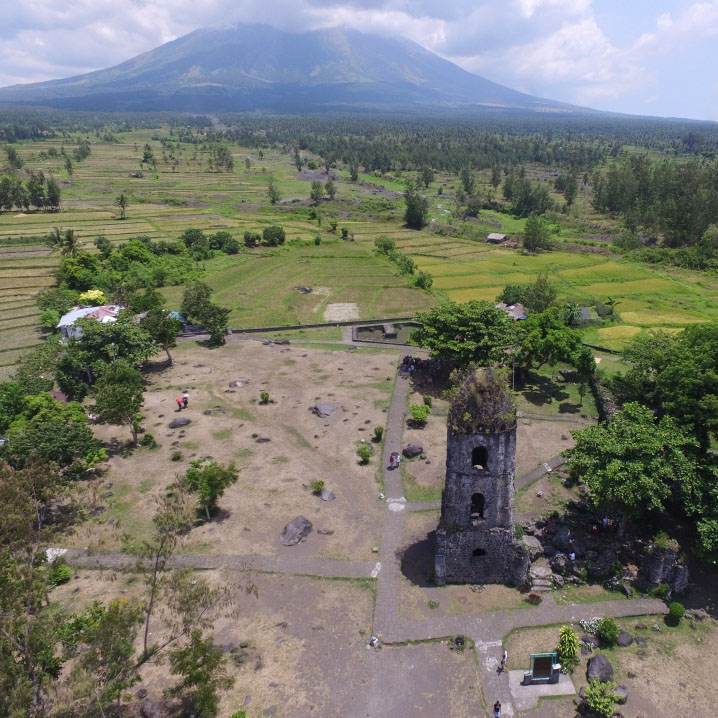 Overview of the ruins in Cagsawa Source: Eva Recto