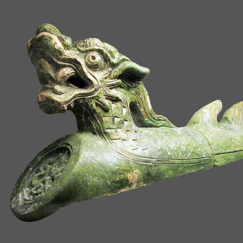 End ridge tile, 15th to early 16th century, Thăng Long capital, Hà Nội. Source: Ngô Thị Lan